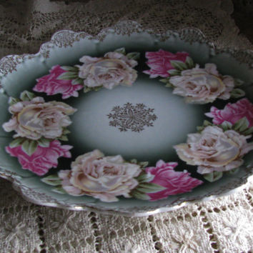 Luscious HP Rose Pattern, R.C. Bavaria Malmaison Rosenthal, Antique Plate, Perfect Gift  Housewarming Gift, Compliments Any Home Decor