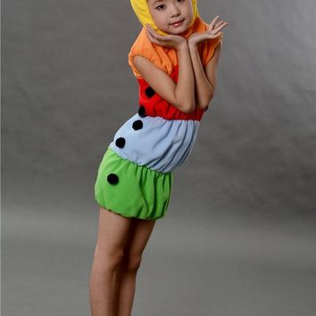 The caterpillar clothing Halloween Costume Adult Children cosplay costume for carnival party top quality