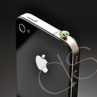 Crystal Headphone Jack Plug - Green