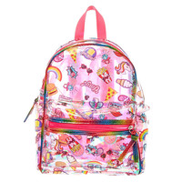 Funky Sticker Metallic Backpack