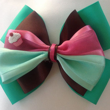 Vanellope Wreck it Ralph Candy Girl Sugar Rush Bow, You're My Hero by Design Bowtique