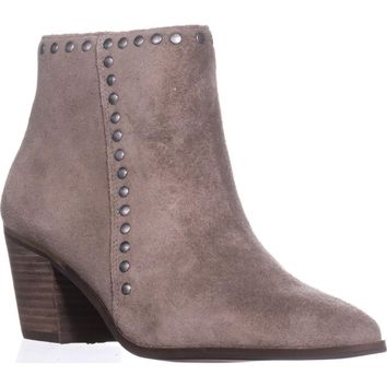 Lucky Brand Linnea Studded Ankle Boots, Brindle, 9 US