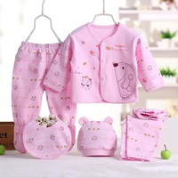 5pcs/Set Baby Boy Clothes New Born Girl Clothes Baby Clothing Set Infant Clothing