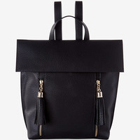 Pebbled Tassel Backpack