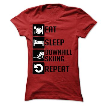 Eat, Sleep, downhill skii