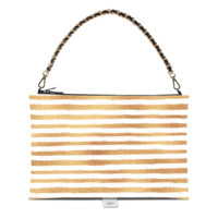 Gold Striped Bow Bag