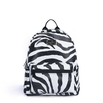 Japanese Anime Bag Epiphqny Brand Zebra Cute  Casual Backpack Contrast Black Stripe School Shoulder Bags Animal Printing White Bag Pack Famous AT_59_4