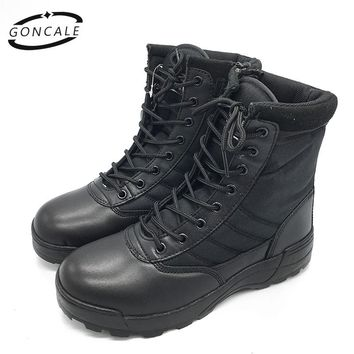 GONCALE 2017 outdoor shoes men breathable waterproof camping army  military boots men winter Ankle  Desert  Boots