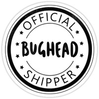 'Official Bughead Shipper' Sticker by PaulaPatata