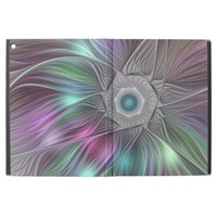 """Colorful Flower Power Abstract Modern Fractal Art iPad Pro 12.9"""" Case"""