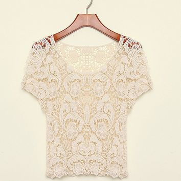 Crochet Sweetheart Blouse