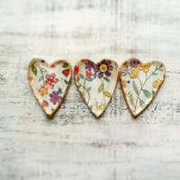 Heart magnet shabby chic cottage chic rustic home decor