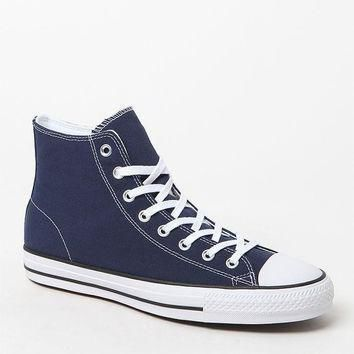 converse ctas pro high top navy and white shoes at pacsun com