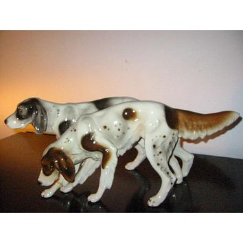 Austrian Porcelain Hunting Dogs