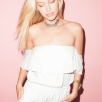 Cotton Candy In the White Romper