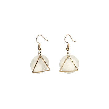 Plastic Geometric Resin Innovative Earrings [10681943823]