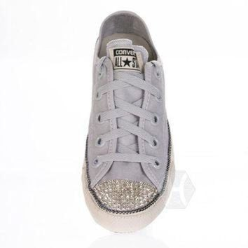 CREYUG7 Converse Chuck Taylor? All Star? Chuckout Washed Canvas with Swarovski crystal toe in