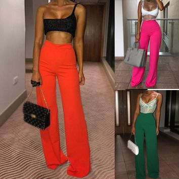Women's Casual Loose Ruffle Wide Leg Pants
