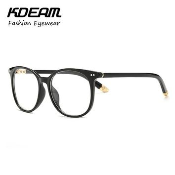 Unisex Spectacles in Rivets Eye Glasses Frames For Women Computer Men Eyeglasses With Clear Lenses