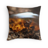 'Coffee Droplet' Throw Pillow by FlyNebula