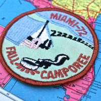 Vintage Badge Boy Scout Fall Camporee Miami 1970s Insignia - Patch