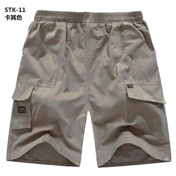 2017 New Summer Shorts Men Fashion Casual Cargo Style Cotton Shorts Loose Beach Mens Shorts 3XL-5XL