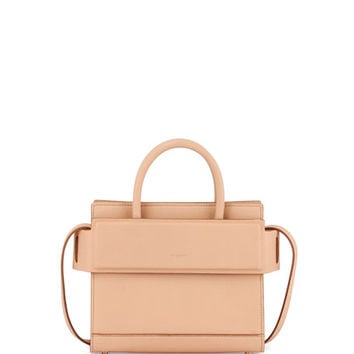 Givenchy Horizon Mini Leather Satchel Bag, Beige Pink