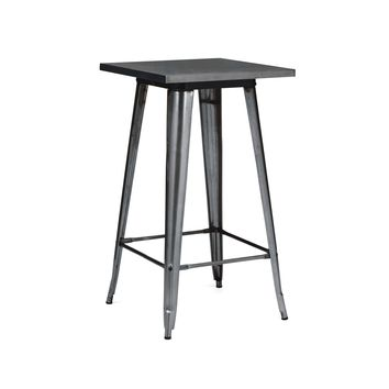 Sundsvall Dark Gunmetal Steel Bar Table 42
