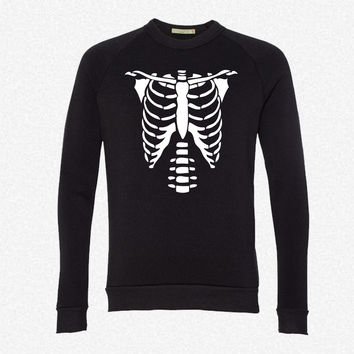 Skeleton Torso Halloween Costume T-shirts fleece crewneck sweatshirt