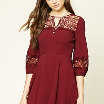 Crochet Lace Skater Dress