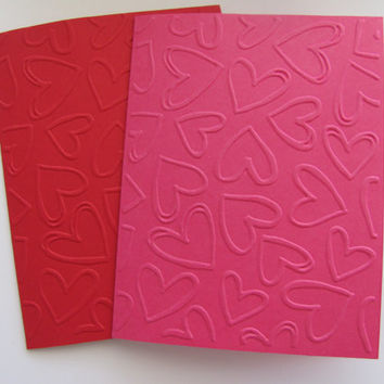 Heart Notecards, Heart Embossed Notecards,Heart Cards,Valentine's Day Note Cards,Wedding Cards