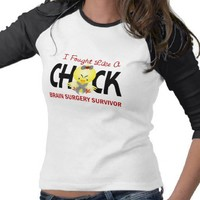 I Fought Like A Chick 1 Brain Surgery Survivor T Shirts from Zazzle.com