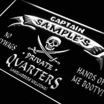 Personalized Private Quarters Pirate LED Neon Light Sign