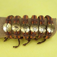 The Zodiac Leather Bracelet