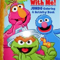Sesame Street Jumbo Coloring Book - 123 Play with Me