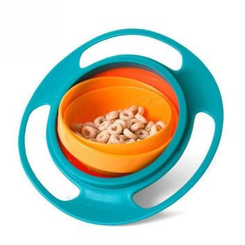 1PC 2017 New Arrival Lovely Cute New Children Kid Baby Toy Universal 360 Rotate Spill-Proof Bowl Not inverted UFO Bowl ZL5874