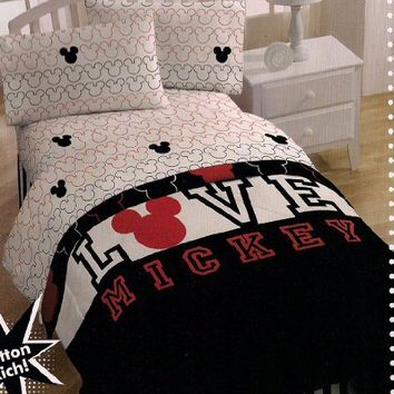 Disney Mickey Love Sheet Set, Full