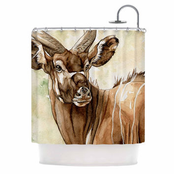 "Wildlife ""Africa 1"" Brown Animals Shower Curtain"