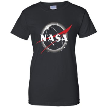 NASA Classic Logo Atop Total Solar Eclipse Graphic T-Shirt cool shirt