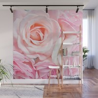 pink roses Wall Mural by sylviacookphotography