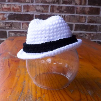 Baby hat, Fedora Hat , cowboy hat Size newborn 0  3 6 12 months photo prop MADE TO ORDER