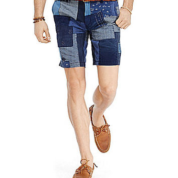 Polo Ralph Lauren Straight-Fit Maritime Patchwork Shorts - Blue