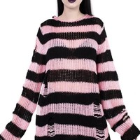 Courtney Distress | KNIT SWEATER