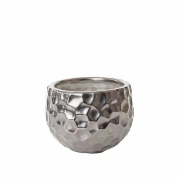 RAPIDS SMALL SILVER DIMPLED CANDLE