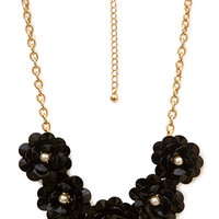 FOREVER 21 Ladylike Gathered Floral Necklace