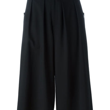 Pleated Culottes in Black