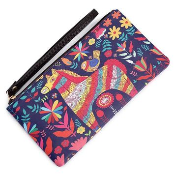 Art Phone Wallet Female Makeup Bag