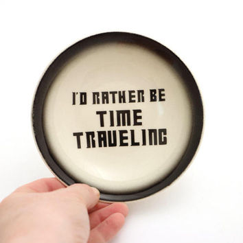 Doctor Who time travel keys plate , dr who spoonrest , trinket tray , jewelry dish , cat bowl , rather be time traveling , geekery