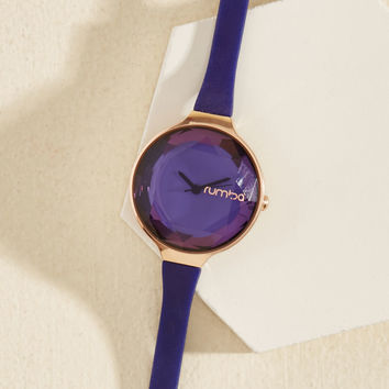 The Bevel Is in the Details Watch in Amethyst | Mod Retro Vintage Watches | ModCloth.com