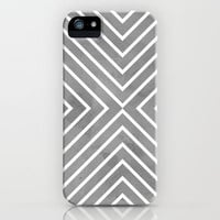 Stripes in Grey iPhone & iPod Case by Brandy Coleman Ford